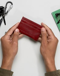 French Connection Leather Card Holder Red