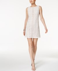 Jessica Howard Petite Lace Shift Dress Ivory Beige