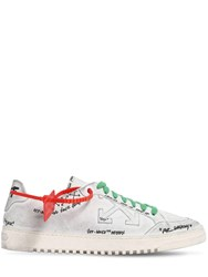 Off White Graffiti 2.0 Low Top Leather Sneakers White