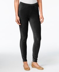 Style And Co Petite Corduroy Leggings Created For Macy's Deep Black