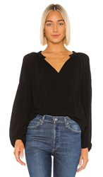 Velvet By Graham And Spencer Elaine Blouse In Black.