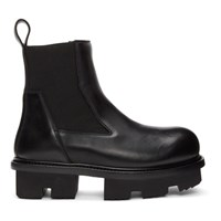 Rick Owens Black Bozo Sneak Megatooth Boots