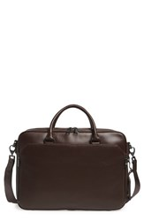 Vince Camuto Turin Leather Briefcase Brown