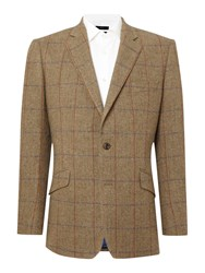 Magee Donegal Tweed Jacket Green