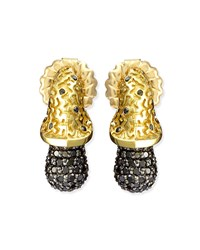 Acorn 18K Gold And Black Diamond Earrings Alex Soldier Gold Black