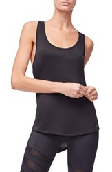Good American Plus Size Racerback Tank Black001