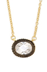 Freida Rothman 'Metropolitan' Small Pendant Necklace Gunmetal Gold