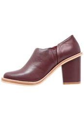 Lost Ink Ankle Boots Oxblood Dark Red