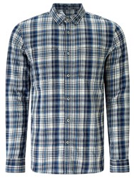 Denham Jeans Edged Check Shirt Tpl Indigo