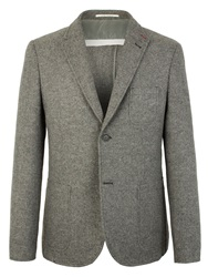 Racing Green Blake Unstructured Blazer Grey