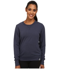 New Balance French Terry Crew Neck Sweatshirt Navy Women's Sweatshirt