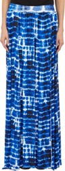 Barneys New York Tie Dye Maxi Skirt Blue