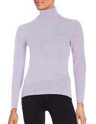 Lord And Taylor Cashmere Turtleneck Sweater Iris Heather
