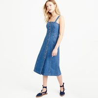 J.Crew Pre Order Button Front Dress In Denim