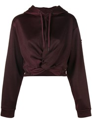 Alexander Wang Hem Knot Hoodie Pink And Purple