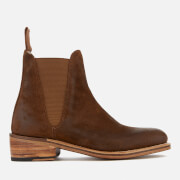 Grenson Women's Nora Burnished Suede Chelsea Boots Snuff Tan