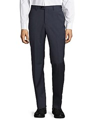 John Varvatos Straight Leg Wool Dress Pants Charcoal
