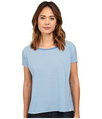 Volcom Lived In Stripe Tee Royal Women's Short Sleeve Pullover Navy