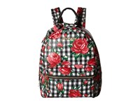 Betsey Johnson Gingham Style Backpack Black Floral Backpack Bags Multi