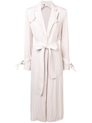 Lanvin Belted Trench Coat Pink