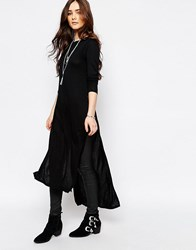 Pull And Bear Pullandbear Tunic With Side Splits Black