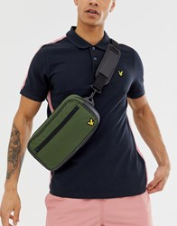 Lyle And Scott Fitness Sports Bum Bags In Khaki Green