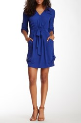 Daniel Rainn Woven Dress Blue