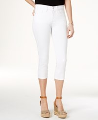 Nydj Alina Tummy Control Capri Jeans Optic White