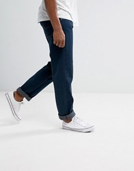 Loyalty And Faith Straight Fit Konfer Jeans In Dark Wash Blue
