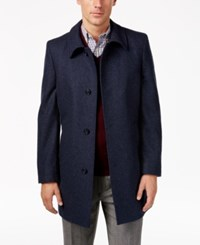 Tommy Hilfiger Men's Bloom Heathered Overcoat New Blue