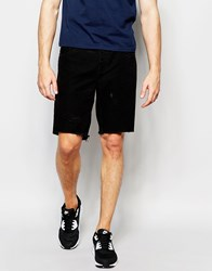 Afends Cut Off Denim Shorts Faded Black Black