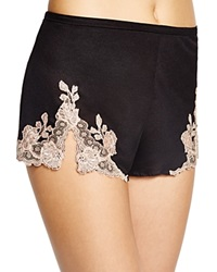 Josie Natori Lace Trim Tap Shorts Sweet Blush Black