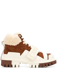 Dolce And Gabbana Shearling Trekking Boots 60