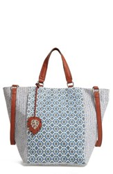 Tommy Bahama Reef Convertible Tote Blue Printed Medallion