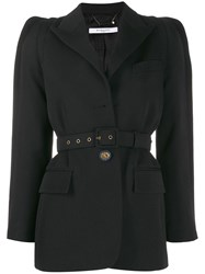 Givenchy Belted Single Breasted Blazer Black