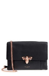 Ted Baker London Zzlee Bee Embellished Crossbody Bag Black