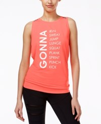 Jessica Simpson The Warm Up Tulip Tie Back Graphic Tank Top Only At Macy's Hibiscus