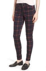 Wit And Wisdom Ab Solution Plaid Slim Pants Navy Wine