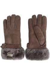 Australia Luxe Collective Shearling Gloves Brown