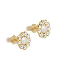 Kate Spade Glass Stone And Faux Pearl Stud Earrings Cream