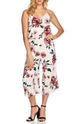 1.State Women's Floral Print Jumpsuit Pink Opal