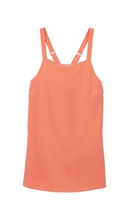 Tibi Silk Square Neck Tank