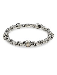 Saks Fifth Avenue 14K Gold Silver And Stainless Steel Link Chain Bracelet