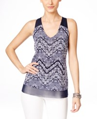Inc International Concepts Sleeveless Printed V Neck Blouse Only At Macy's Autumn Cheffon