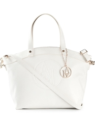 Armani Jeans 'Bugatti' Shopping Bag White