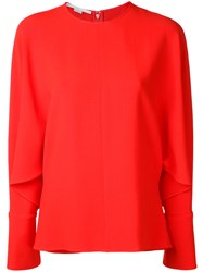 Stella Mccartney Drape Sleeve Blouse Yellow Orange