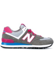 New Balance 574 Core Plus Sneakers Women Cotton Leather Suede Rubber 39 Grey