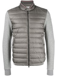 Moncler Maglia Padded Front Jacket Grey