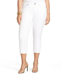 Lauren Ralph Lauren Plus Straight Leg Cropped Jeans White