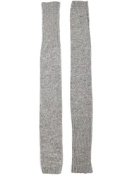 The Elder Statesman Long Fingerless Gloves Grey